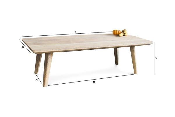 Productafmetingen Möka salontafel
