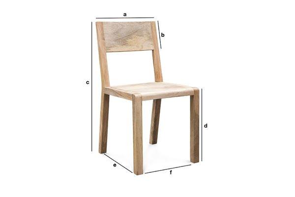 Productafmetingen Möka stoel