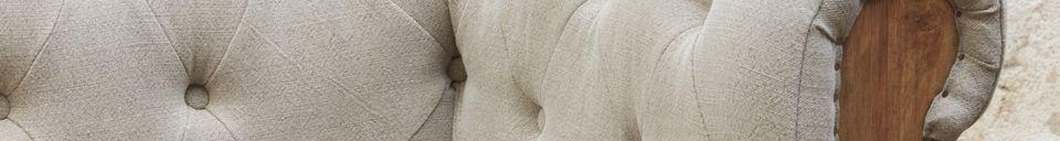 Benadrukte materialen Montaigu 2-zits grijze Chesterfield bank