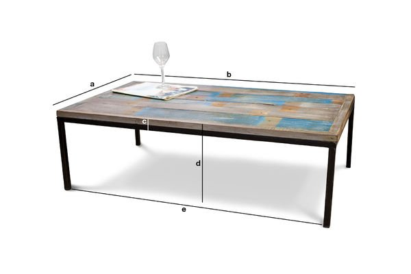Productafmetingen Moriz salontafel