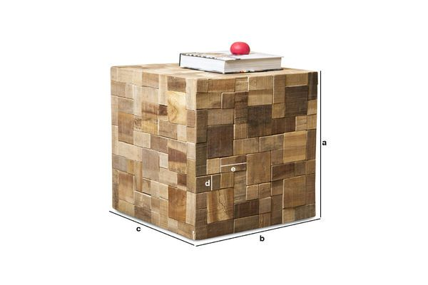 Productafmetingen Mosaic bijzettafel