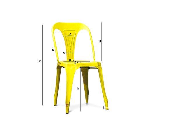 Productafmetingen Multipl's stoel in antiek geel