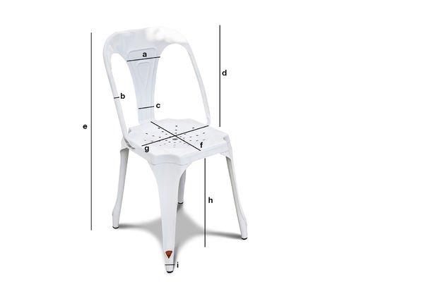 Productafmetingen Multipl's stoel in het wit