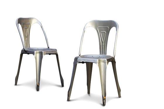 Multipl's stoel van geborsteld staal Productfoto