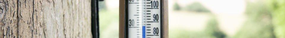 Benadrukte materialen Mural koperen thermometer