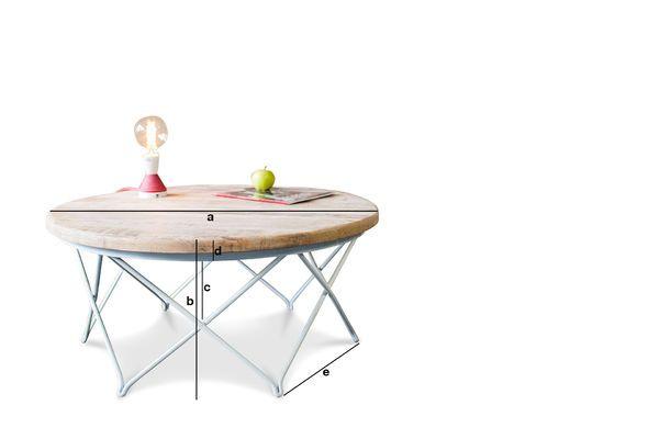 Productafmetingen Myrte salontafel