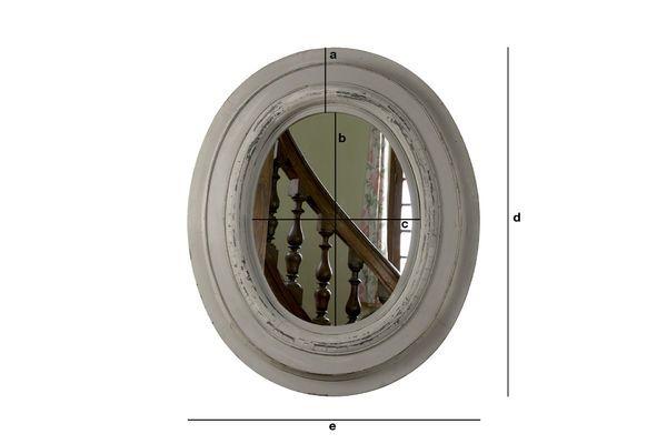 Productafmetingen Napoleon houten spiegel