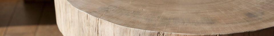Benadrukte materialen Natuurlijke Luka boomstam bijzettafel