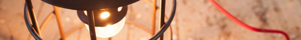 Benadrukte materialen Nautilus lamp