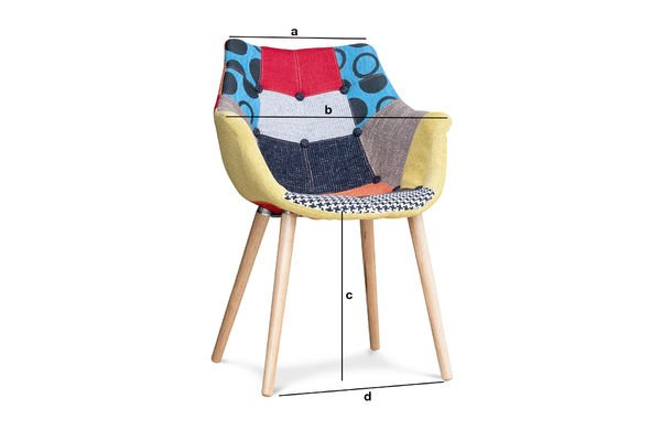 Productafmetingen Neo Patchwork fauteuil
