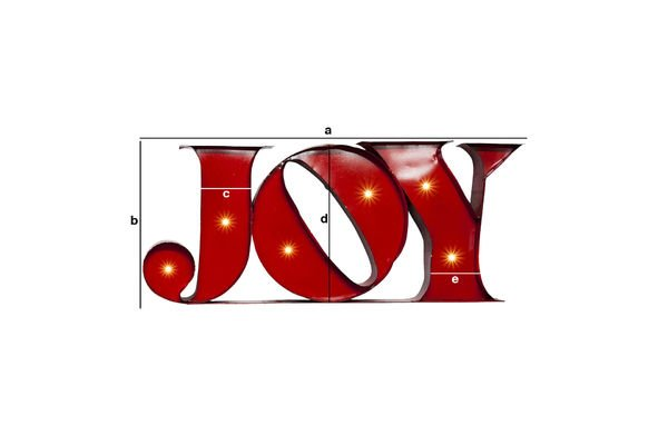 Productafmetingen Neon Joy bord