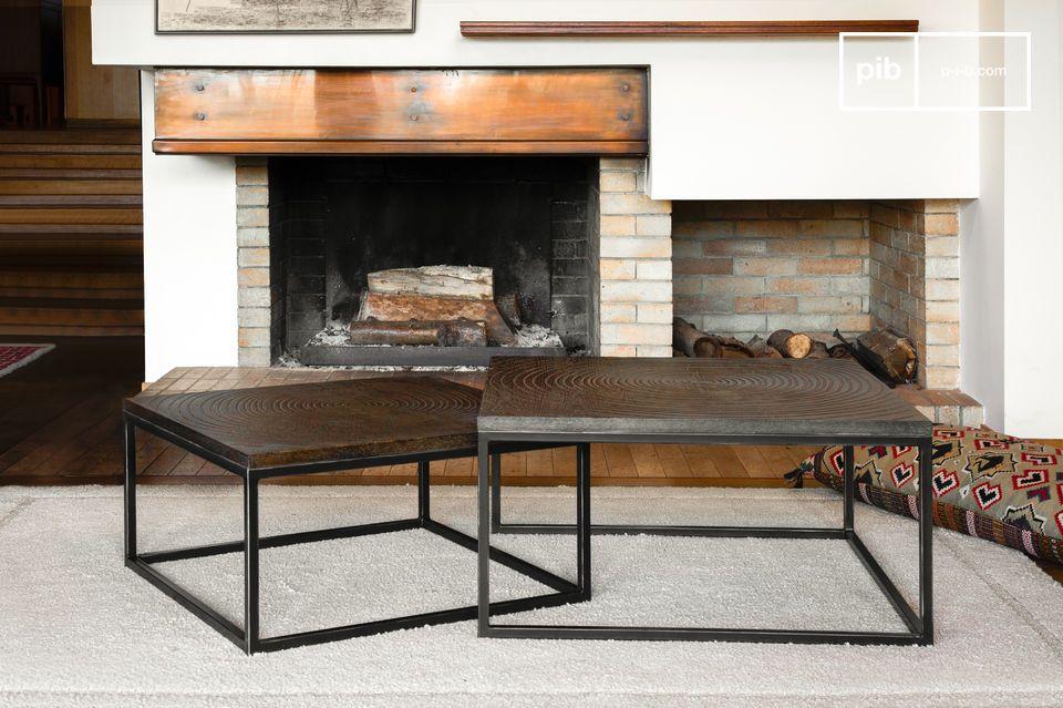 Modulair, een combinatie van vintage stijl, grafisch dienblad en edel hout