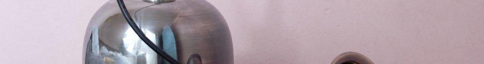 Benadrukte materialen Nickel Warhead hanglamp