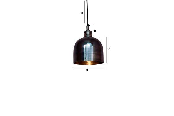 Productafmetingen Nickel Warhead hanglamp