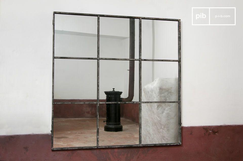 Wit metalen frame voor een vintage effect