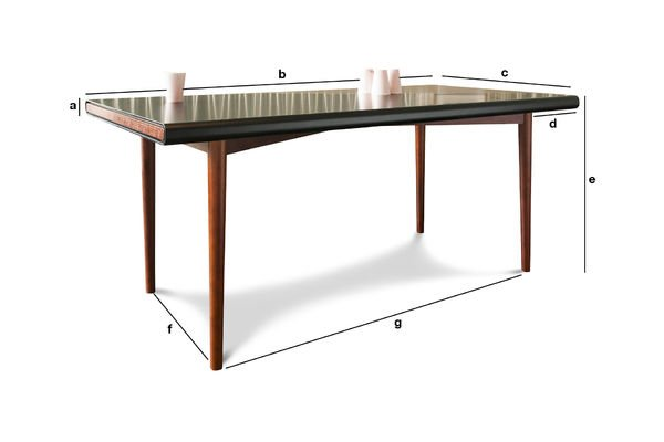 Productafmetingen Nordby tafel