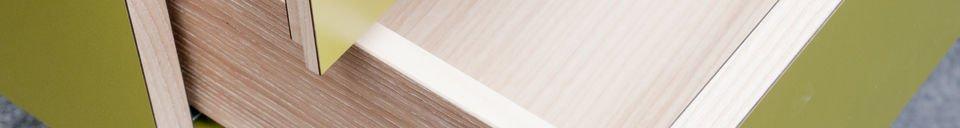 Benadrukte materialen Nöten bureau met lades