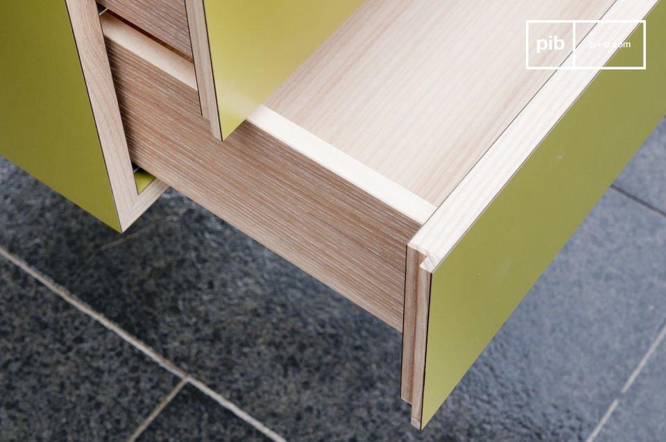 Dit Scandinavische bureau met strakke en elegante lijnen heeft twee praktische lades