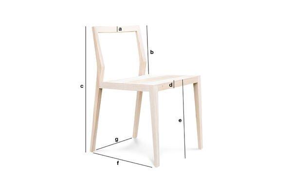 Productafmetingen Nöten stoel extra licht