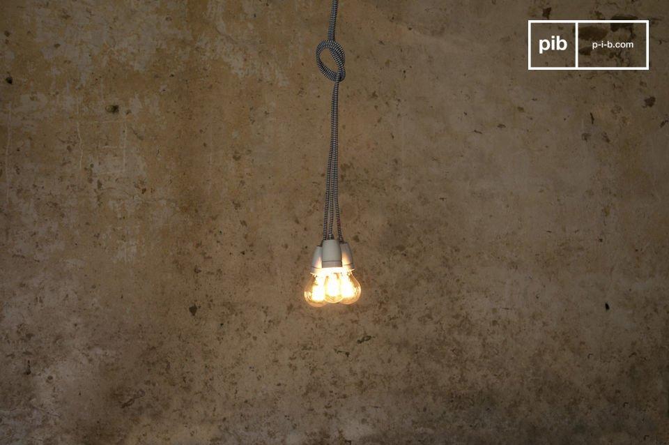 Porseleinen lamp en een retro snoer van 3m