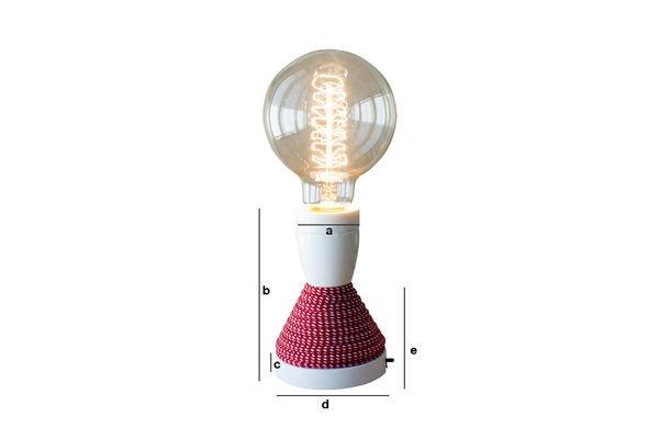 Productafmetingen NUD tafellamp