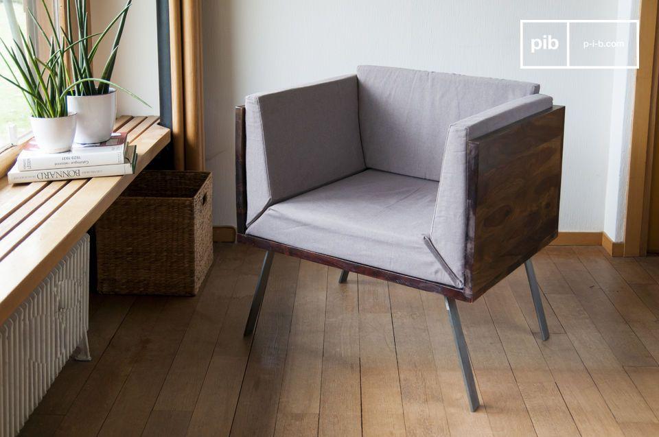 Een originele, compacte en elegante fauteuil