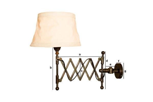Productafmetingen Oléron wandlamp