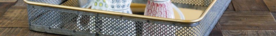 Benadrukte materialen Olonne metalen spiegel