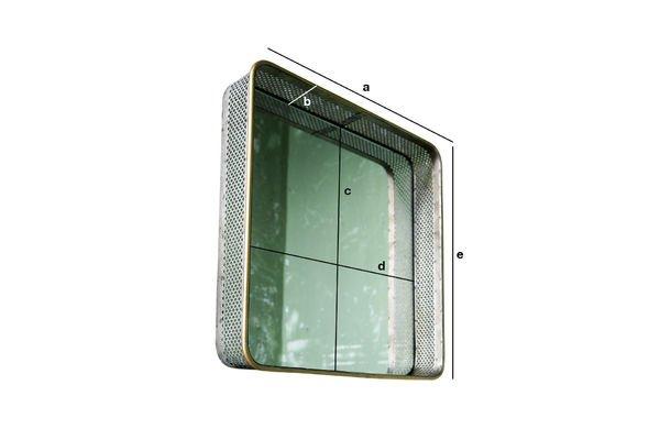 Productafmetingen Olonne metalen spiegel