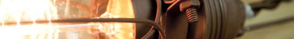 Benadrukte materialen Olympia handlamp