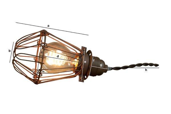 Productafmetingen Olympia handlamp