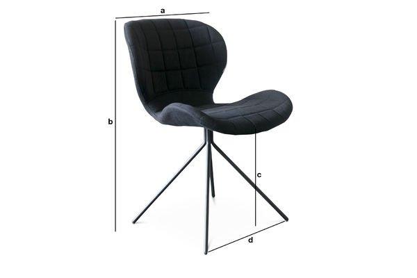 Productafmetingen OMG stoel