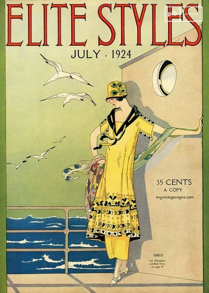 Omslag van een tijdschrift in de jaren '20