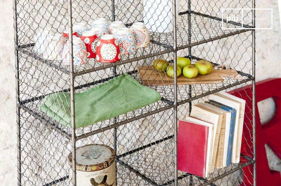 De Ontario metalen boekenkast met loft stijl is een metalen meubelstuk vol karakter