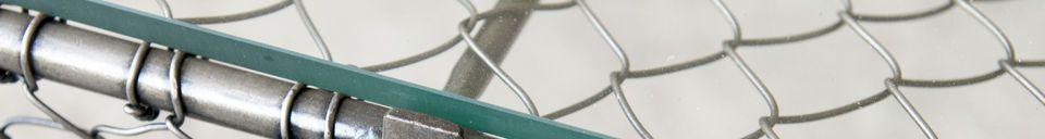 Benadrukte materialen Ontario salontafel