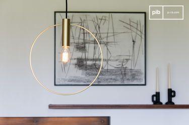 Oohalt gouden hanglamp