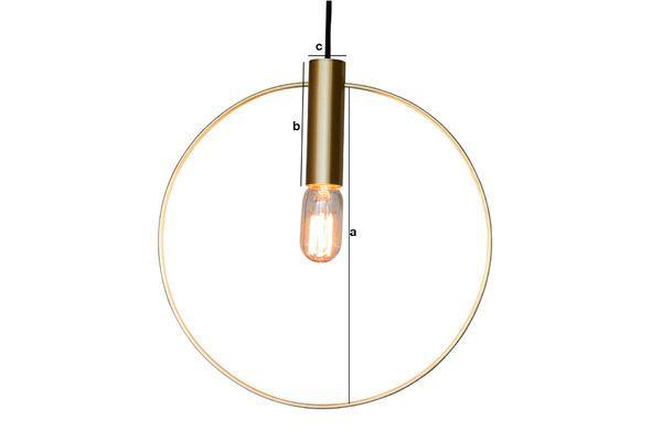 Productafmetingen Oohalt Grote gouden hanglamp