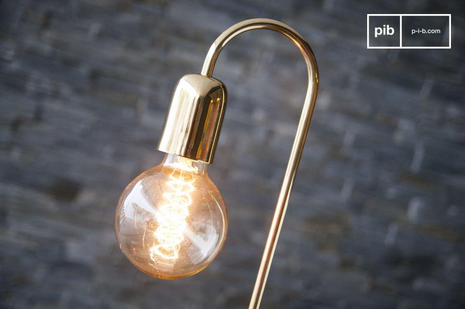 Een elegante lamp met een vintage Scandinavisch design