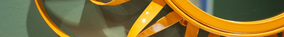 Benadrukte materialen Oranje Aurinko spiegel