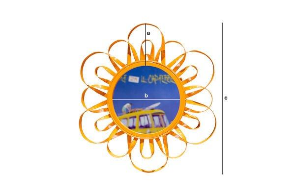 Productafmetingen Oranje Aurinko spiegel