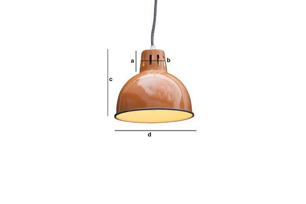 Productafmetingen Oranje hanglamp Snöl