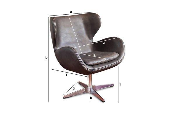 Productafmetingen Orchestra vintage fauteuil