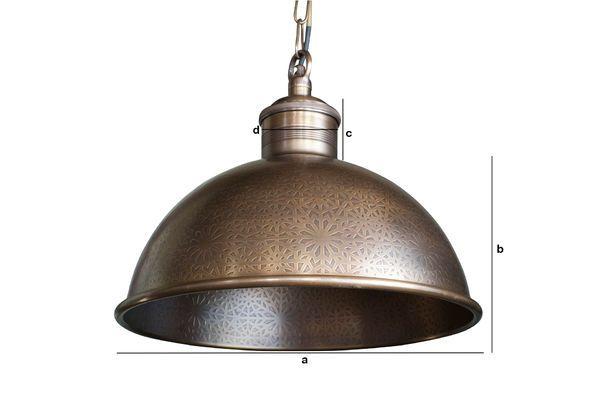 Productafmetingen Orient Express gegraveerde metalen hanglamp