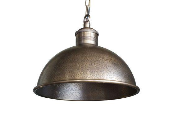 Orient Express gegraveerde metalen hanglamp Productfoto
