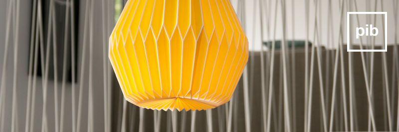 Origami hanglampen
