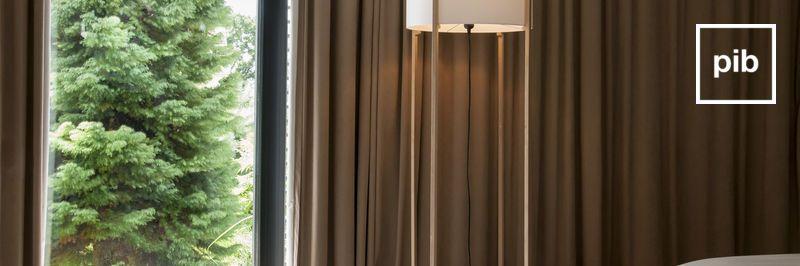 Oude collectie design vloerlampen in scandinavische stijl
