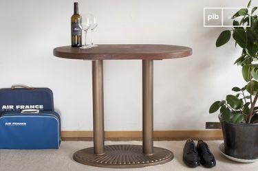 Oude Washington ovalen consoletafel
