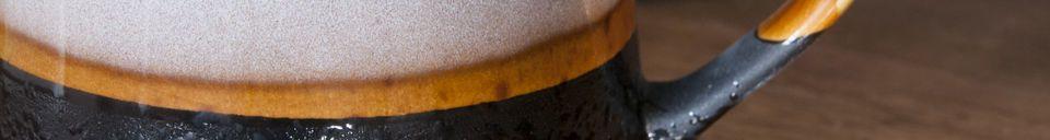 Benadrukte materialen Paar grote Ceramix mokken