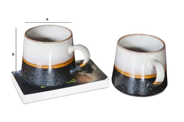 Productafmetingen Paar grote Ceramix mokken