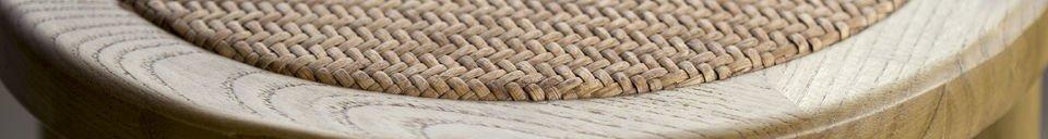 Benadrukte materialen Pampelune barkruk met natuurlijke afwerking
